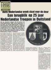 Artikel Griffioen n.a.v. 25 jaar Nederlandse Troepen in Duitsland (1988)