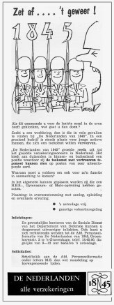 Personeelsadvertentie De Nederlanden van 1845 #2